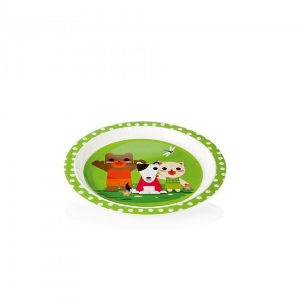 Kinderteller - Melamin - Bär - Hund - Katze - premium Qualität