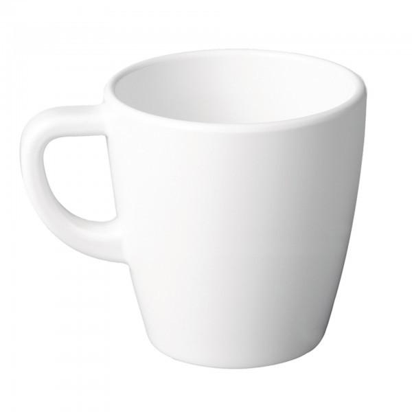 Kaffeebecher - Melamin - weiß - rund - Serie Casual - APS 83513