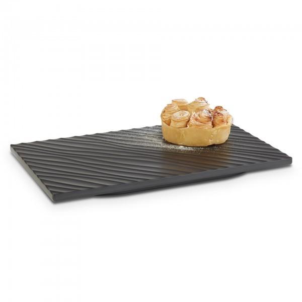 GN-Platte - Melamin - schwarz, matt - Serie Tiles - APS 15250