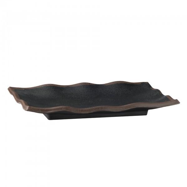 Tablett - Melamin - schwarz - rechteckig - Serie Marone - APS 84104