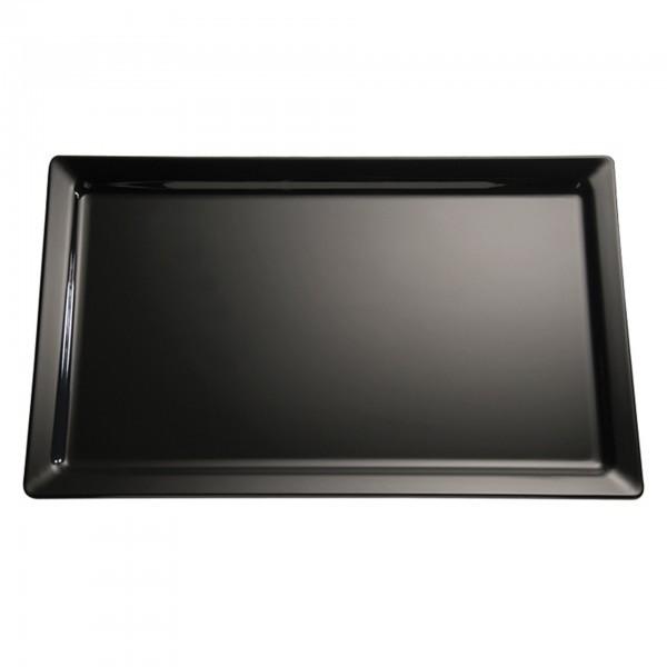 Tablett - Melamin - schwarz - rechteckig - Serie Pure - APS 83592