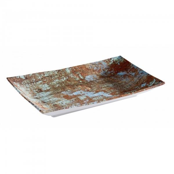 Tablett - Melamin - Kupfer, gebürstet - Serie Aquaris - APS 84744