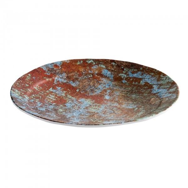 Teller - Melamin - Kupfer, gebürstet - Serie Aquaris - APS 84746