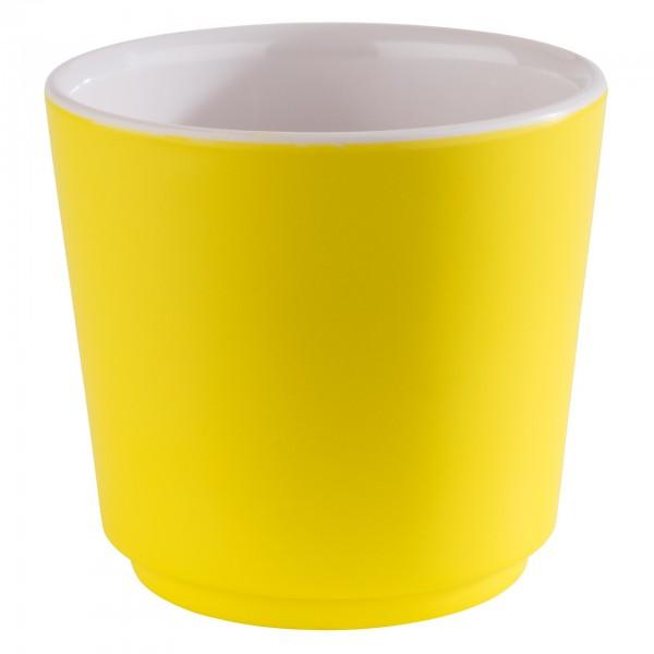 Schale - Melamin - weiß / gelb - rund - Serie Happy Buffet - 15600