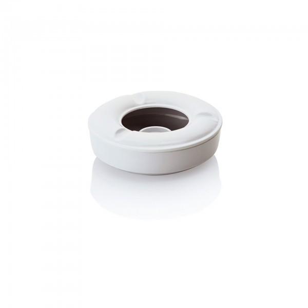 Windaschenbecher - Melamin - weiß - 2-teilig - extra preiswert