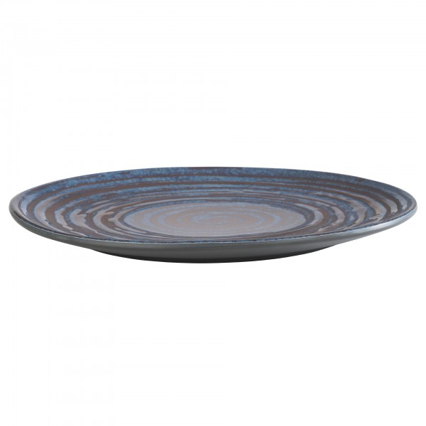 Teller - Melamin - blau-grau - rund - Serie Loops - 85027