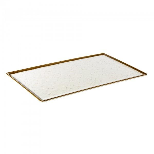 GN-Tablett - Melamin - weiß, braun - Serie Stone Art - APS 84519