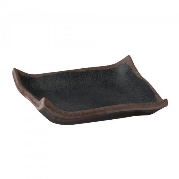 Tablett - Melamin - schwarz - quadratisch - Serie Marone - APS 84103