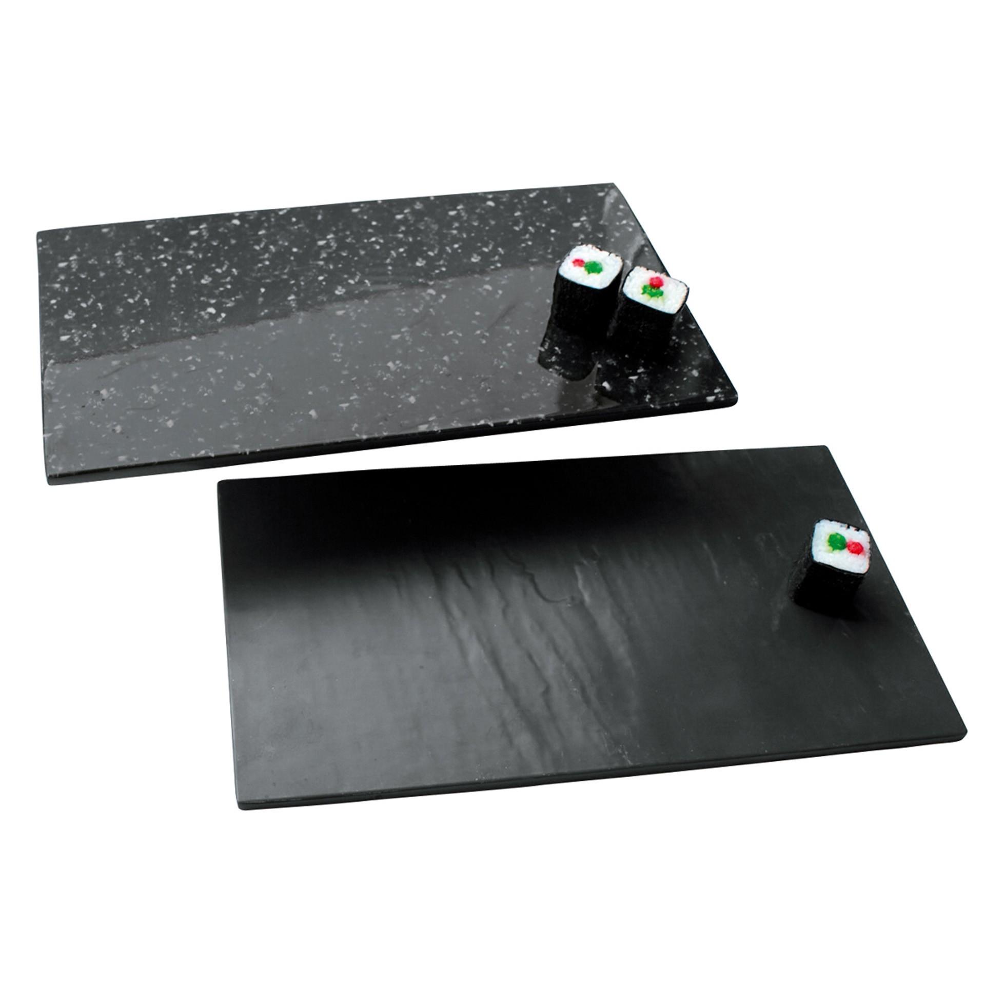 melamin servierplatte in schiefer granit optik jetzt kaufen. Black Bedroom Furniture Sets. Home Design Ideas