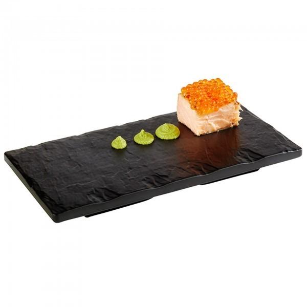 Tablett - Melamin - schwarz - rechteckig - Serie Slate Rock - APS 84246