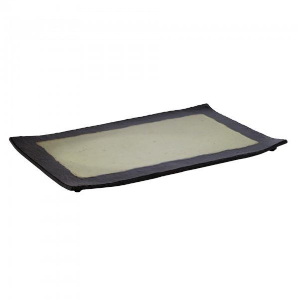 GN-Tablett - Melamin - schwarz, grün - Serie Jade - APS 84709