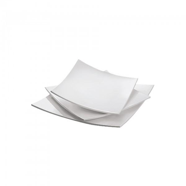 Servierplatte - Melamin - viereckig - gebogen