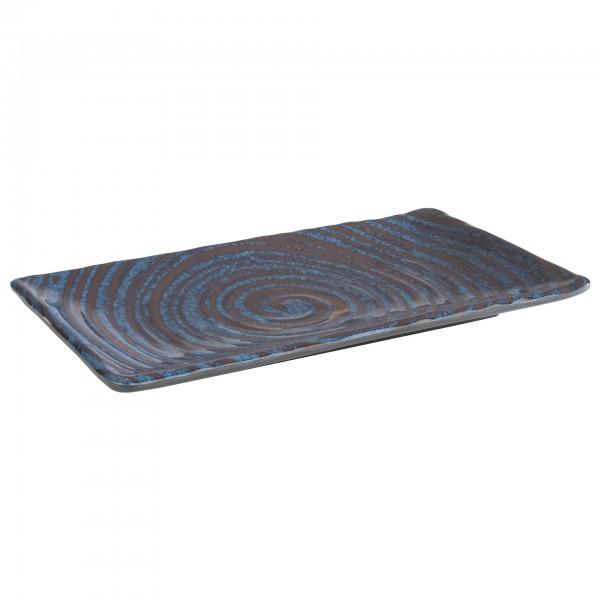 Tablett - Melamin - blau-grau - rechteckig - Serie Loops - 85025