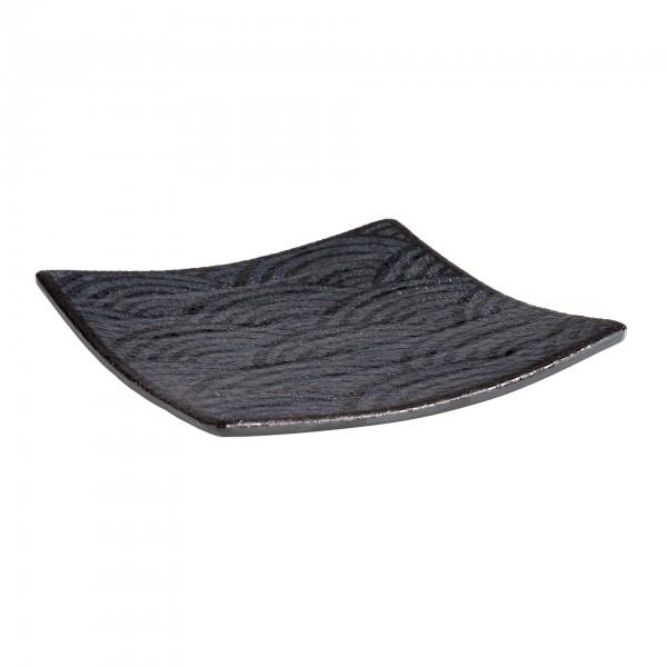 Tablett - Melamin - schwarz - quadratisch - Serie Dark Wave - 84904