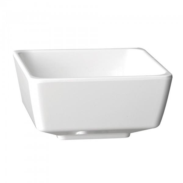 Schale - Melamin - weiß - eckig - Serie Float - APS 83910