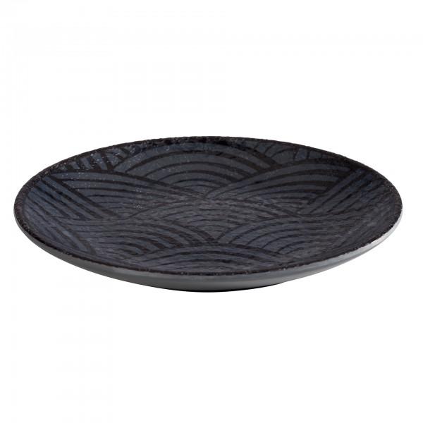 Teller - Melamin - schwarz - rund - Serie Dark Wave - 84907