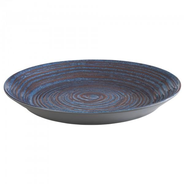 Tablett - Melamin - blau-grau - rund - Serie Loops - 85031