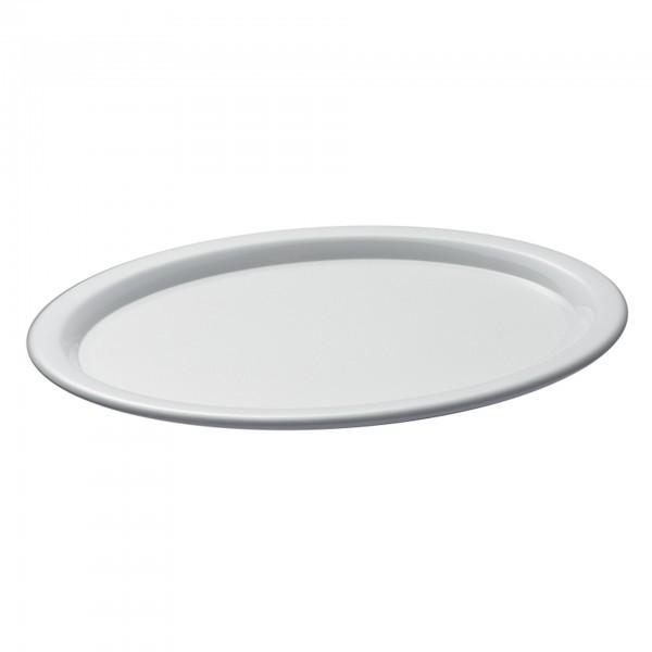 Serviertablett - Melamin - weiß - oval - Serie Kaffeehaus - APS 84250