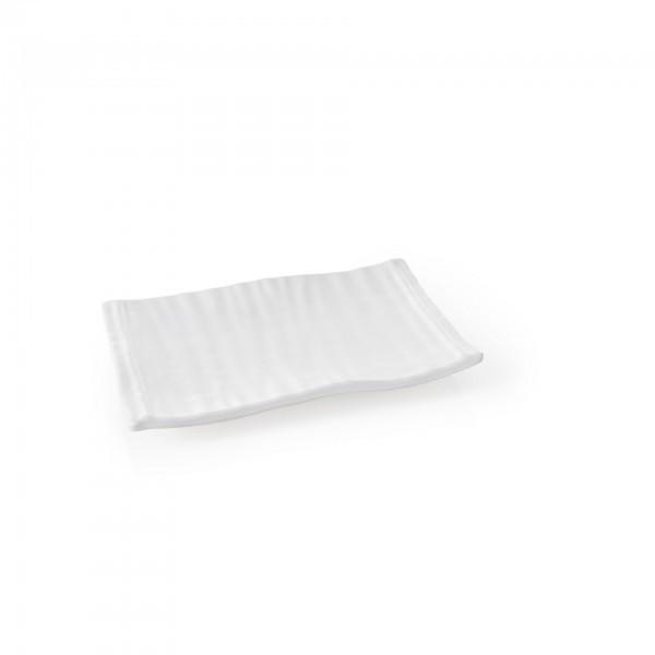 Servierplatte - Melamin - weiß - gewellt - 9351225