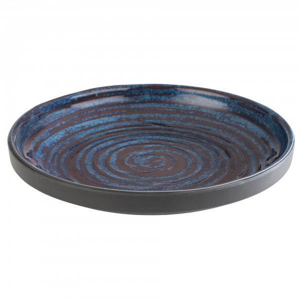 Schale - Melamin - blau-grau - rund - Serie Loops - 85026