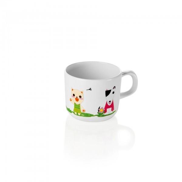 Kindertasse - Melamin - Bär - Hund - Katze - Frosch - premium Qualität