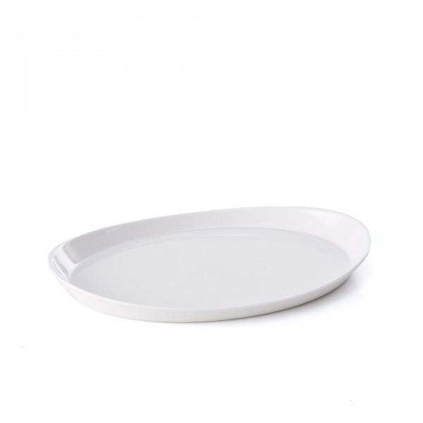 Tablett - Melamin - weiß - oval - 24 x 17 cm